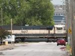BNSF 9417 #2 power in a SB grain train at 3:12pm