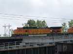 BNSF 4486 leads an EB doublestack/piggyback at 3:24pm