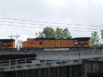 BNSF 4582 #2 power in an EB doublestack/piggyback at 3:24pm