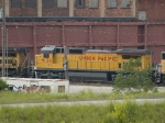 UP 9130 #2 power in a WB autorack at 5:32pm