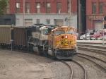 BNSF 8827 and BNSF 9611 leads a WB coal train at 5:39pm
