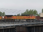 BNSF 919 #4 power in an EB doublestack at 5:55pm