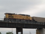 UP 7091 rear DPU on a WB coal train at 5:59pm
