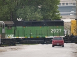BNSF 2927 #2 power in a SB manifest at 6:22pm