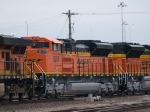 BNSF 9208 #2 power in a SB manifest at 7:39pm