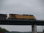 UP 6450 leads a WB coal train at 7:57pm