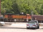 BNSF 4024 #1 rear DPU on a SB grain train at 12:18pm