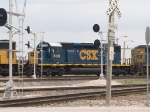 CSX 8118 #2 power in a light power move at 12:39pm