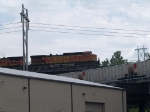 BNSF 5403 leads an EB/SB doublestack at 1:32pm