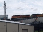 BNSF 871 #2 power in an EB/SB doublestack at 1:32pm