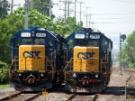 CSX 4423 and 2795