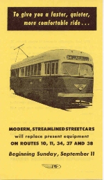 PTC BROCHURE FRONT COVER OLD EQUIPMENT REPLACED BY PCC CARS 9-11-55