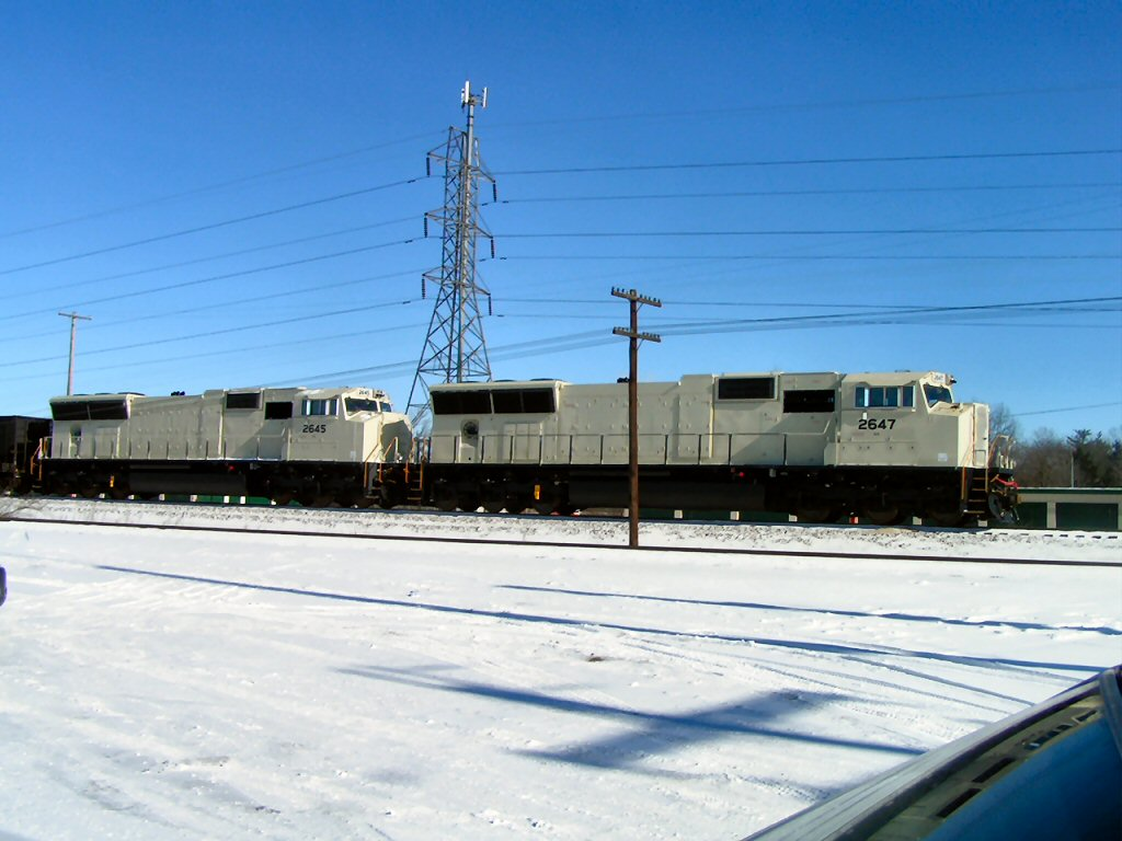 New NS EMD SD70s still with only primer coat