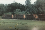 Four GM&O SD40s