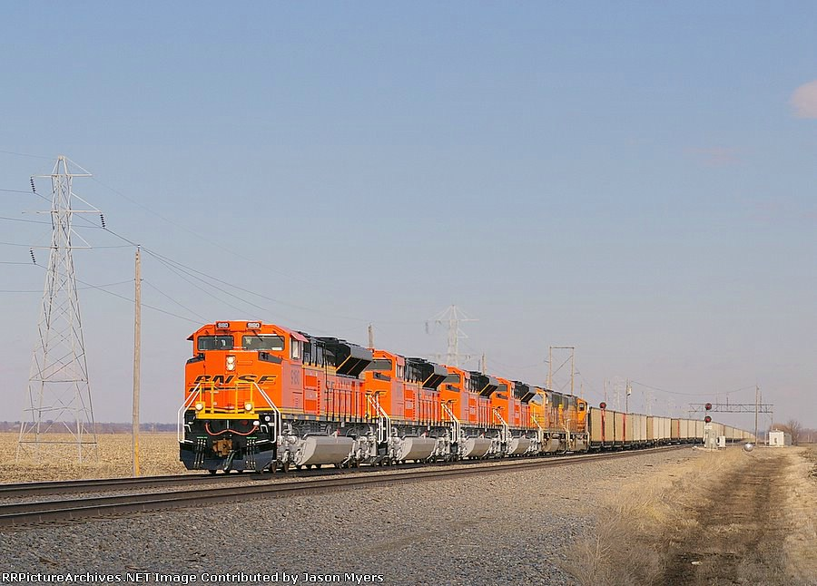 BNSF 9180, 9179, 9165, 9181, 8897, and 9876