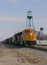 BNSF 8855 and CEFX 135 DP unit BNSF 9861