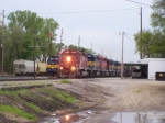 CP 6078 or DME 6078 (CP Won't Have to Repaint This One) Leads 5 Other SD40's on IC&E Train Past Muscatine Yard Office