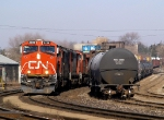 CN 382 rolling by the Brantford yard @ 09:30