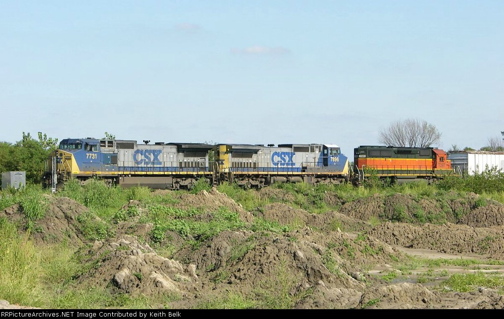 CSX 7731 and 7896