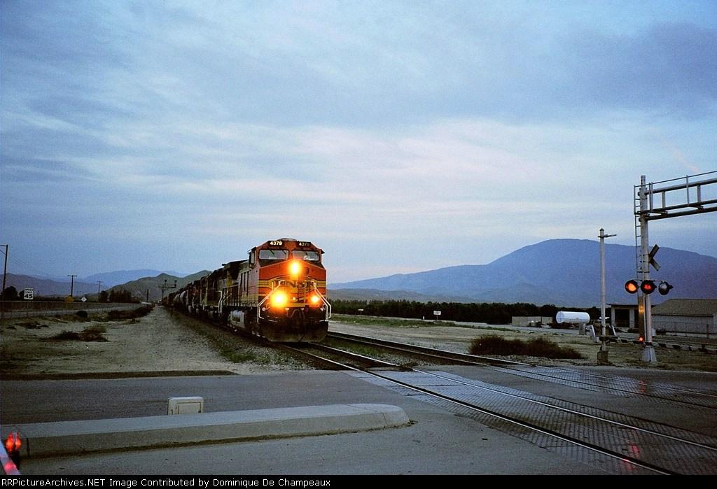 At dusk. Edison, California