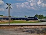 Amtrak's Piedmont #75 arrives in Salisbury, NC.