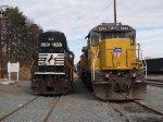 UP 9243 & NS 6787