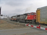 CN 5776 & WC 6934 crossing King Road