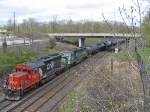 CN 6014 & BNSF 9257