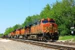 BNSF 5498 West (coal loads)