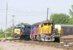 CSX 8460 and UP 9113