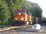 BNSF 5764 leads eastbound coal train