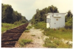 Ft White Fla DD still stands in June of 1988. The rail was removed here only days before this photo was taken