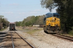 CSX 818 waits with a loaded coal train