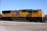 UP 4837 in the East Yard