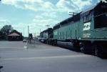 1340-15 Westbound BN coal empties pass ex-NP depot