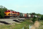 KCS 4120 leading north bound grain train