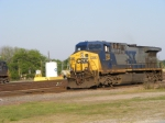 CSX 358 heads for the Wye to get turned around