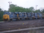 Line of Locomotives on the Engine Track, See any Visitors?