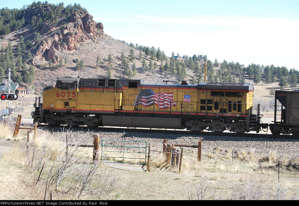 UP 6075 Helper For an East Bound Coal Train