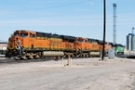 BNSF 7443 And Helpers Pulling In For Fuel & Sand