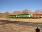 BNSF 7018 Leads Morning Beer Train