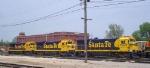 A trip of Santa Fe B23's