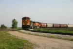 BNSF 5303 on the merry-go-round grain loop
