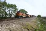 BNSF 5336 on LPC stack train