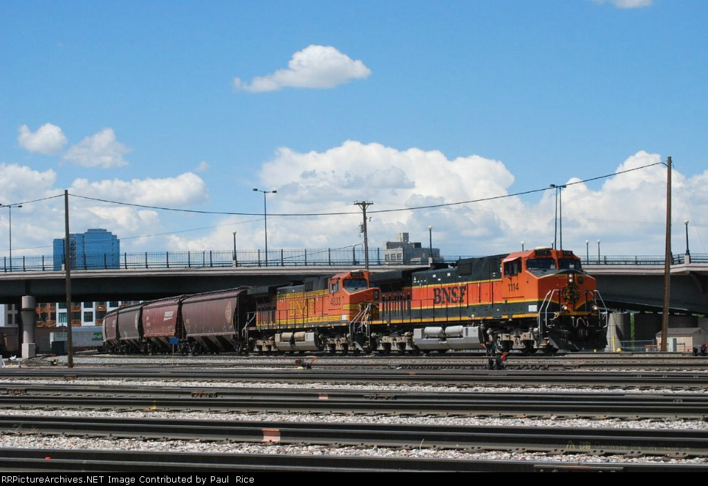 BNSF 1114 Pulling Into The Denver Yard