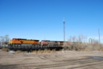BNSF 5170 with a south bound freight train.