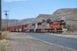 BNSF 8300 Leads the Morning Beer Train From Coors Brewery