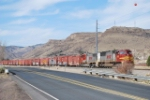 BNSF 8300 Heads East With Beer Train