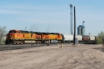 BNSF 5376 Leaves Denver With A Line Of Covered Hoppers