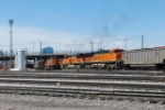 BNSF 6107, Leads South Bound Coal Train From DEnver Yard